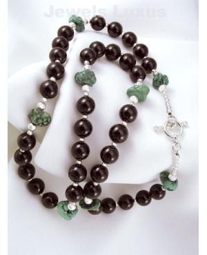 Garnet + Silver Necklace