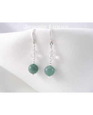 Amazonite + Silver Earrings