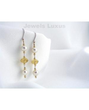 Citrine + Pearl Earrings