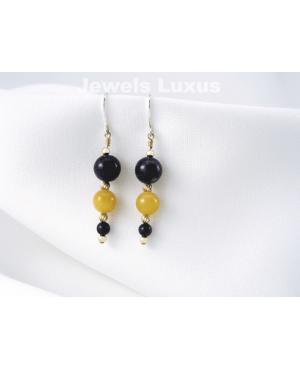 Jadeite + Lapis Earrings