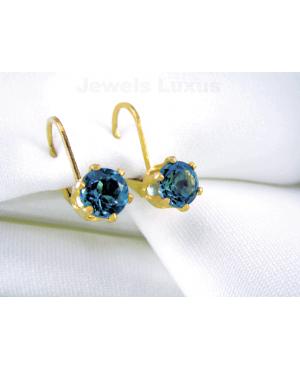 Blue Topaz GF Earrings