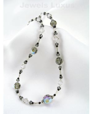 Onyx + Swarovski Necklace