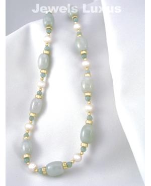Pearl + Jadeite Necklace