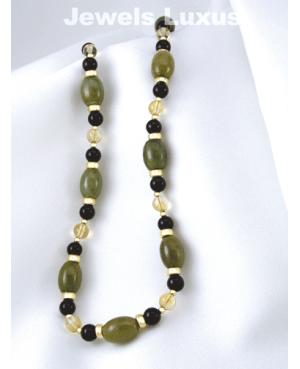 Onyx + Jadeite Necklace