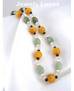 Quartz + Jadeite Necklace