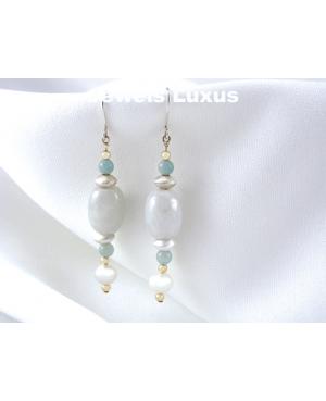 Pearl Jadeite Earrings