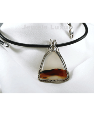 Agate + Silver Necklace