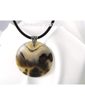 Agate + Leather Necklace