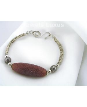 Agate + Silver Bracelet