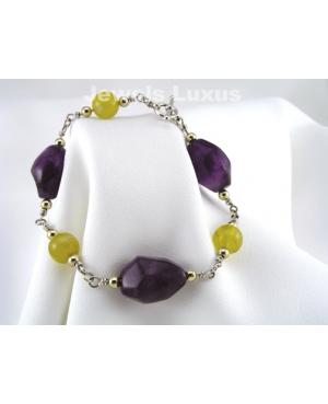 Amethyst Opal Bracelet
