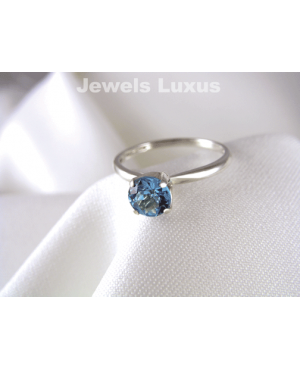 Topaz Solitaire Ring
