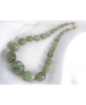 Grn Aquamarine Necklace