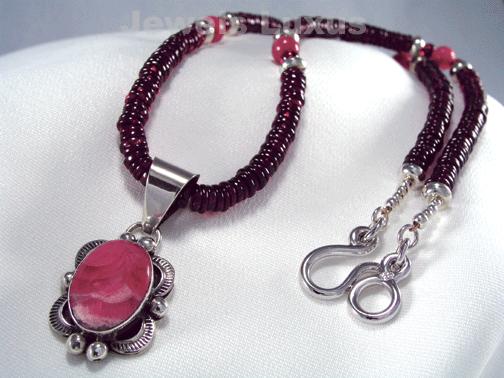 Unique Garnet Necklace